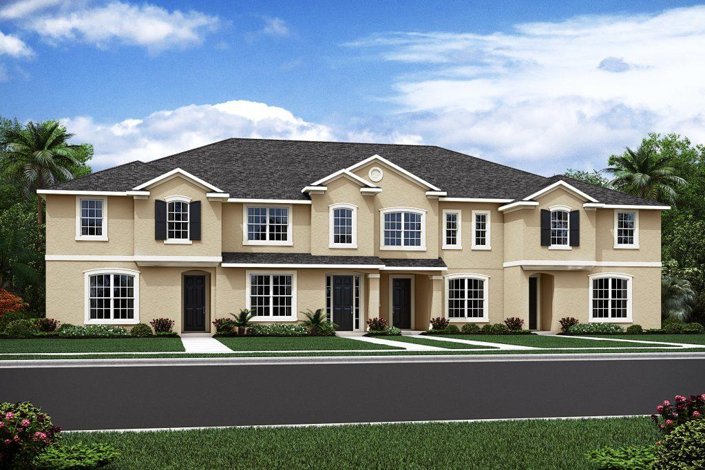 Del Ray model town homes at Solara at Westside